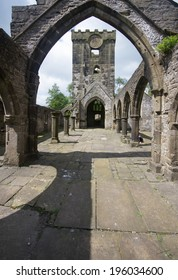 Interior shot of Heptonstall's original church was dedicated to St Thomas a Becket. It was founded c.1260, and was altered and added to over several centuries. The church was damaged by a gale in 1847