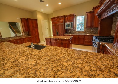 A interior shot of a kitchen in a home