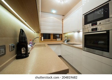 Interior of a small modern kitchen