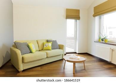 Interior - sofa in a bright room