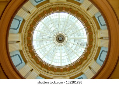 The interior of the South Carolina State House dome. This historic Capitol building is located in Columbia.