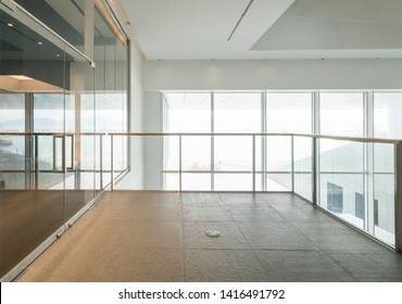 Interior space and empty floor tiles