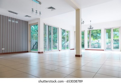 Interior space of the living room