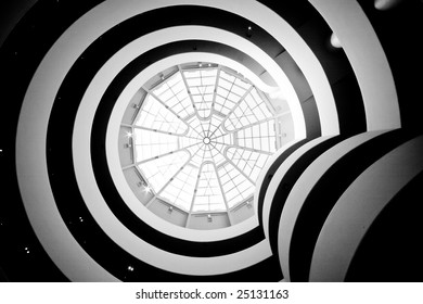 Interior with spirals and glass roof