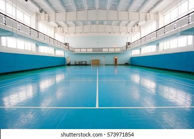 Interior of a sport hall for soccer or handball