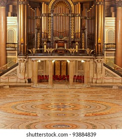 Interior of St Georges Hall, Liverpool, UK. Grade 1 listed building