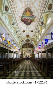 Interior of St. Louis Cathedral in Jackson Square New Orleans, Louisiana, United States