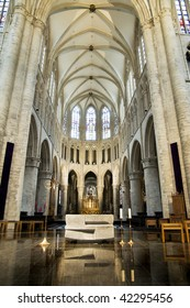 Interior of St. Michael and St. Gudula cathedral