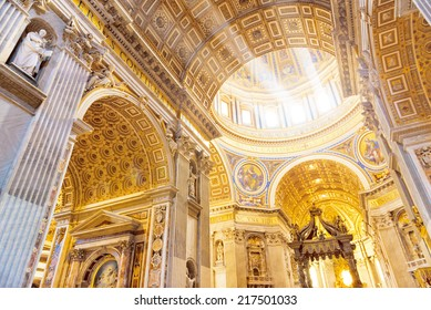 Interior of the St. Peter Basilica, Vatican