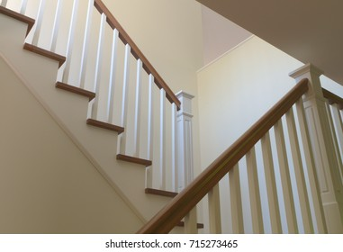 interior stairs white wood residence staircase