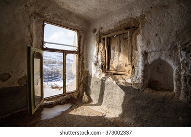 Interior of the stone houses in famouse Kandovan village on west-north of Iran