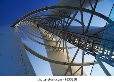 Interior structure of the Glasgow Tower with perspective