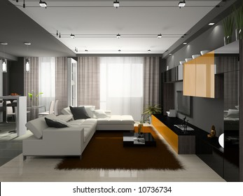 Interior of the stylish apartment. Photo on magazine was made by me, I uploaded model's release