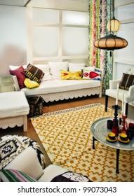 interior with stylish color decor
