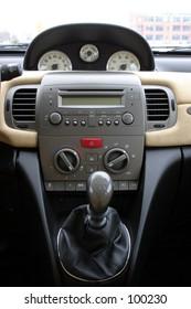 interior of stylish italian car