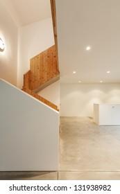 Interior of stylish modern house, hall