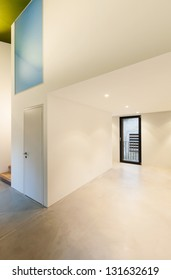 Interior of stylish modern house, wide room
