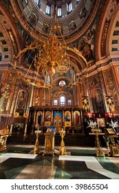 Interior of a temple of an icon of Kazan divine mother in Irkutsk