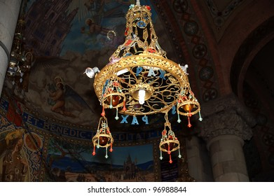 The interior of the Tibidabo church/temple, at the top of tibidabo hill, Barcelona, Spain