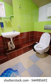Interior of a toilet and a bathroom