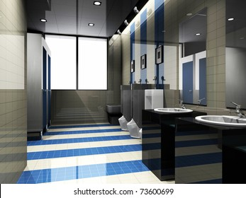 interior of toilet.  render