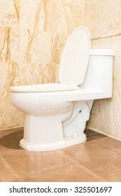 Interior of toilet room