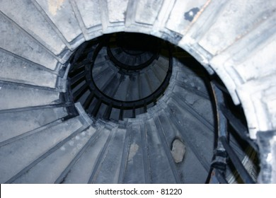Interior of a Tower - Staircase