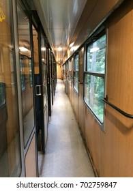 Interior of a train in Romania