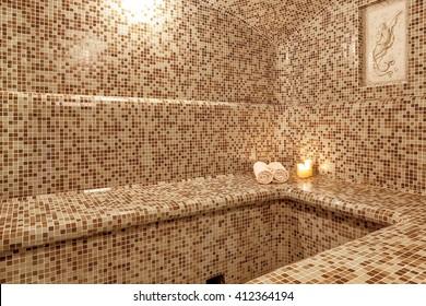 Interior of  Turkish sauna