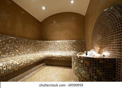 Interior of a Tutkish steam bath
