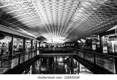 The interior of Union Station, in Washington, DC.