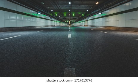 Interior of an urban tunnel