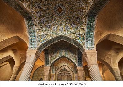 Interior of Vakil Mosque Iran, 2014- May 2 Shiraz