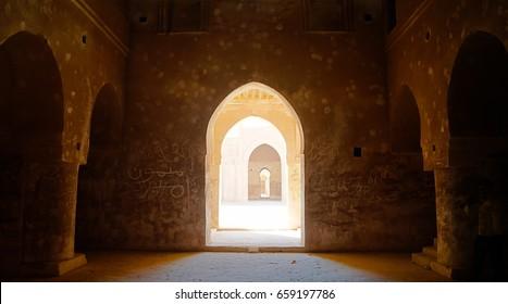 Interior view to Al-Ukhaidir Fortress aka Abbasid palace of Ukhaider near Karbala in Iraq