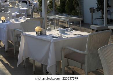 Interior view of the asian restaurant, Turkey