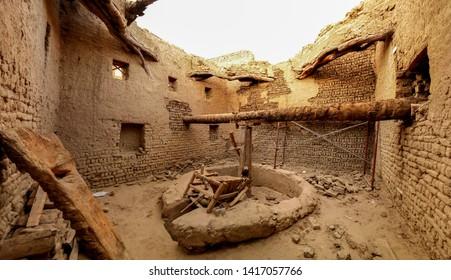 Interior view to Balat old town at Dakhla oasis, Egypt