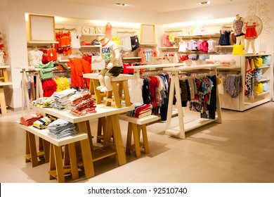 interior view of children's clothing store