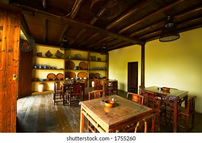 Interior view of a chinese tea house. More with keyword Group6F.
