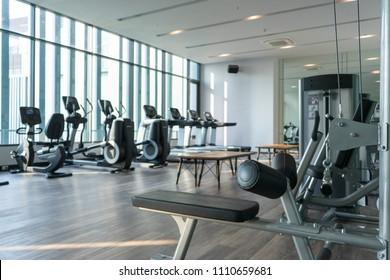 interior view of fitness gym