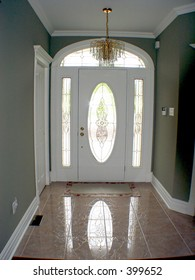 Interior view of front entrance of house