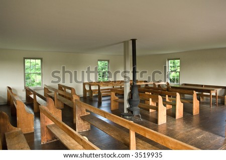 interior view historic dunker church antietam stock photo edit now