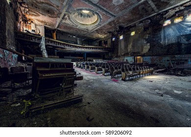 An interior view of the long abandoned theater in Buffalo, New York.