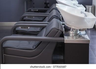 Interior view of luxury beauty salon
