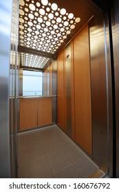 Interior view of a modern elevator