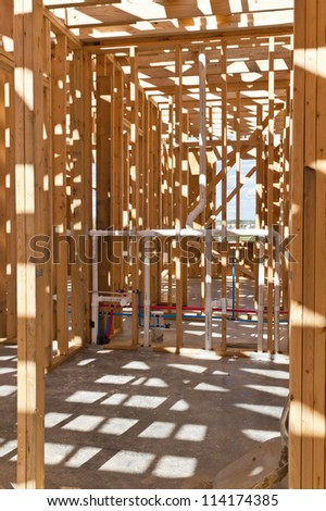 Sensational Interior View New House Under Construction Stock Photo Edit Now Wiring Cloud Hisonuggs Outletorg