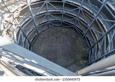 Interior view over the parking decks