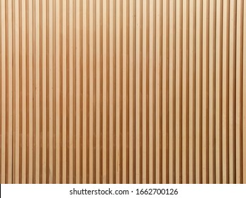 Interior wall cladding made from strips of plywood - wall texture