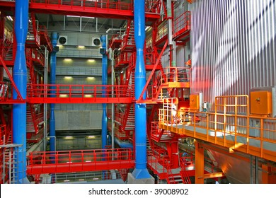 interior of waste to energy power plant