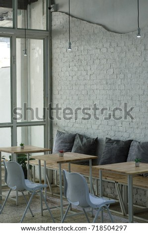 Interior White Cafe Room Living Room Stock Photo Edit Now
