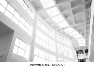 interior of white office